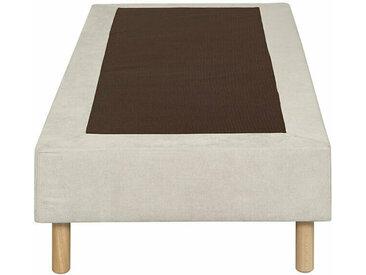 Sommier tapissier Senesi  Écru 90x200 cm