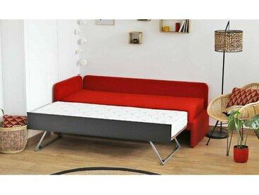 Meridienne lit gigogne Debo  Rouge 80x200 cm