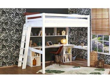 Lit mezzanine 2 places Abel  Blanc 140x190 cm