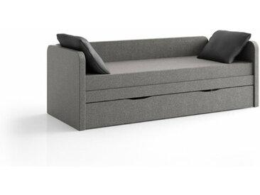 Canapé lit gigogne Debo  Gris souris 80x200 cm