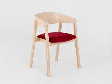 Lot de 2 chaises design KLARA Quantité - Lot de 4, Tissu - Canneberge