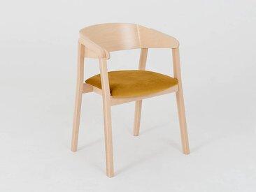 Lot de 2 chaises design KLARA Quantité - Lot de 4, Tissu - Fruit de la passion