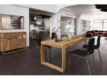 Table extensible en chêne massif NATURAL Dimensions - 160/205/250 x 100