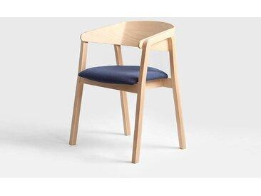 Lot de 2 chaises design KLARA Quantité - Lot de 4, Tissu - Encre