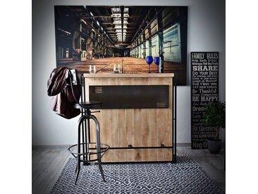Bar de salon de style industriel STEEL WOOD