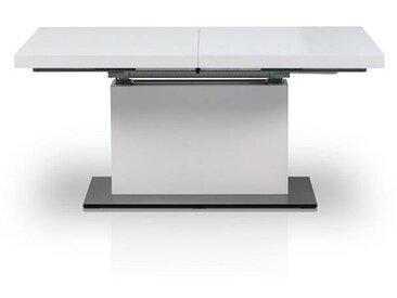 Table extensible avec ascenseur pneumatique EVITA Matière - Verre blanc