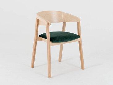 Lot de 2 chaises design KLARA Quantité - Lot de 4, Tissu - Avocat