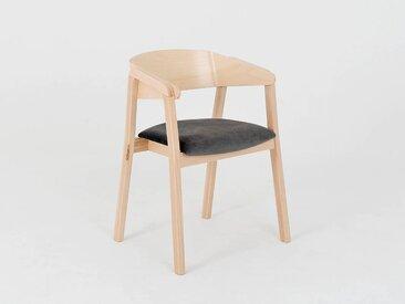 Lot de 2 chaises design KLARA Quantité - Lot de 2, Tissu - Gris