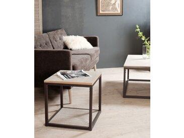Bout de canapé industriel design Malone