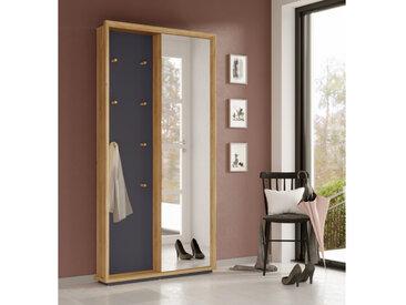 Vestiaire d'entrée aspect chêne et gris avec miroir Darling