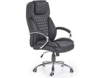 Fauteuil de bureau design grand confort noir Kimmy