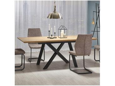 Table industrielle bois et métal Vegas