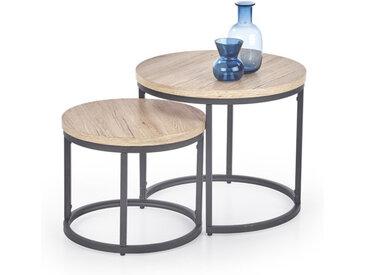 Table gigogne bois et métal Seven