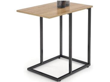 Table d'appoint - bout de canapé style chêne et acier noir Loggia