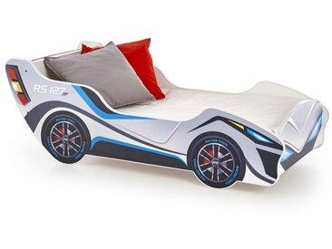 Lit enfant voiture 151x55cm bois avec matelas Banbino