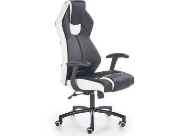 Chaise de bureau ergonomique noir & blanc Piotr