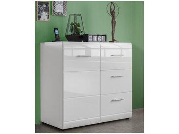 Bahut design blanc 96x86x40cm Alama