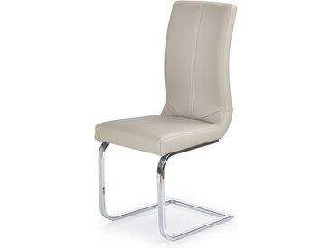 Chaise luge cappuccino et métal Odense