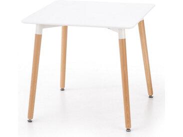 Table carrée scandinave 80x80cm avec pieds bois Stilys