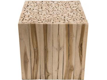Bout de canapé design branches de teck 45,5x45,5cm Woody