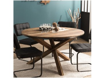 Table à manger ronde industrielle 130cm Tinesixe
