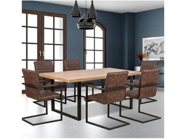Table industrielle bois et métal 160x90cm Berlin