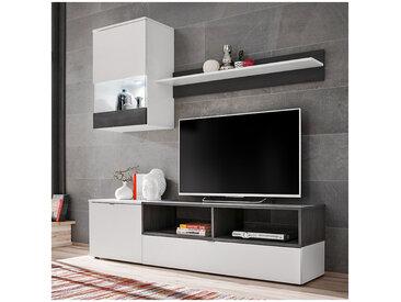 Ensemble TV blanc mat et style pin norvégien EPIC