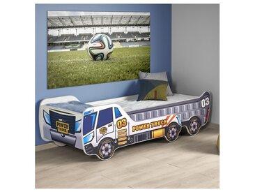 Lit enfant camion évolutif avec sommier + matelas Diego