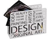 Porte revue blanc Design