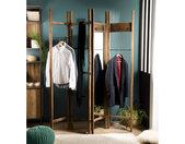 Porte-manteau ventaux pliables design industriel 184x206cm Tinesixe