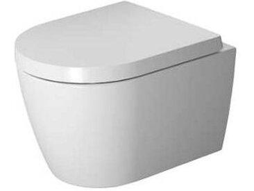 Duravit ME by Starck - Cuvette suspendue à fond creux compact Rimless® blanc sans WonderGliss