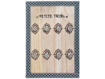 """Boîte à Clés en Bois """"Petite Tribu"""" 38cm Multicolore - Paris Prix"""