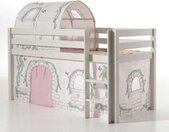 """Pack - Lit Enfant, Tente & Tunnel """"Pino Birdy"""" Blanc - Paris Prix"""