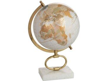 """Globe sur Pied en Marbre """"Mappemonde"""" 36cm Or - Paris Prix"""