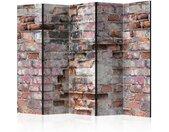 """Paravent 5 Volets """"Old Wall"""" 172x225cm - Paris Prix"""