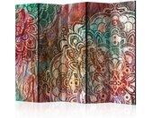 """Paravent 5 Volets """"Mandala : Copper Garden"""" 172x225cm - Paris Prix"""