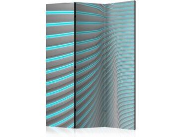 """Paravent 3 Volets """"Neon Blue"""" 135x172cm - Paris Prix"""