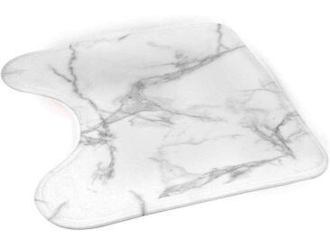 """Tapis Contour WC """"Effet Marbre"""" 45x45cm Blanc - Paris Prix"""