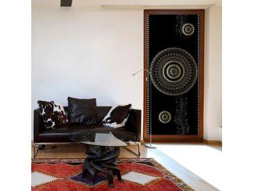 """Papier Peint pour Porte """"Pattern Circles I"""" 210x80cm - Paris Prix"""