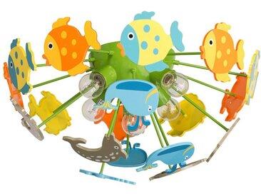 """Plafonnier Enfant """"Fishy"""" 50cm Multicolore - Paris Prix"""