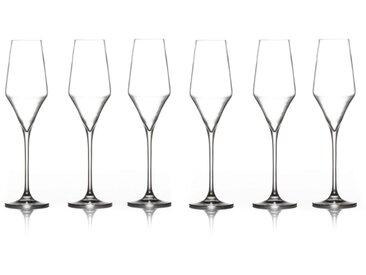 """Lot de 6 Flûtes à Champagne """"Clarillo"""" 22cl Transparent - Paris Prix"""