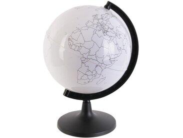 """Globe Rotatif à Personnaliser """"Feutres"""" 22cm Blanc - Paris Prix"""