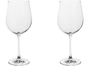 """Lot de 2 Verres à Vin """"Bordeaux"""" 61cl Transparent - Paris Prix"""