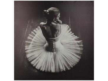 """Toile Imprimée """"Danseuse"""" 78x78 cm Noir & Blanc - Paris Prix"""