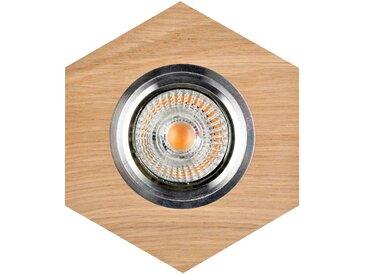 """Spot Encastrable Hexagone LED """"Bois"""" 11cm Naturel - Paris Prix"""