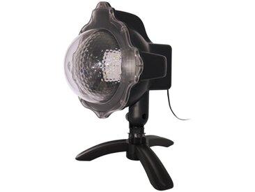 """Projecteur Extérieur LED """"Neige Blanche"""" 26cm Noir - Paris Prix"""