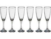 """Lot de 6 Flûtes à Champagne """"Twist"""" 15cl Transparent - Paris Prix"""