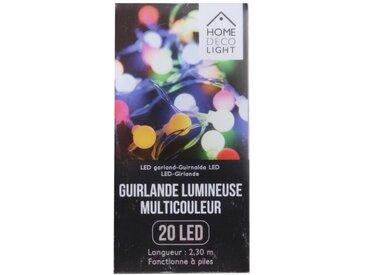 "Guirlande Lumineuse à Led ""20 Led"" Multicolore - Paris Prix"