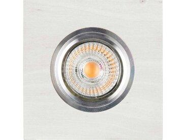 """Spot Encastrable Carré LED """"Bois"""" 9cm Blanc - Paris Prix"""