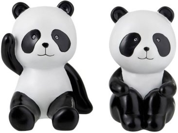 """Lot de 2 Serre-Livres """"Panda"""" 16cm Noir & Blanc - Paris Prix"""